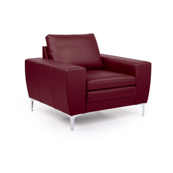 Czerwony fotel skórzany Softnord Twigo