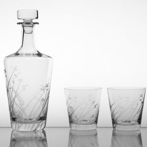 Zestaw do whisky z 2 szklankami Len, 330 ml
