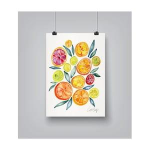 Plakat Americanflat Citrus Slices, 30x42 cm