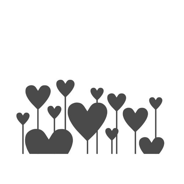Naklejka ścienna Hearts Like flowers