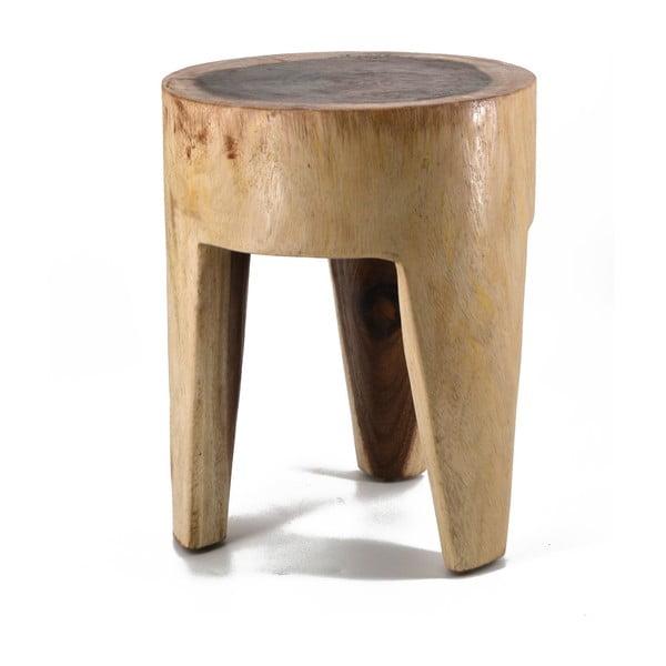Stołek z drewna tekowego Erosi
