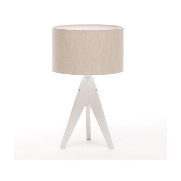 Lampa stołowa Artista White/Beige Linnen, 28 cm