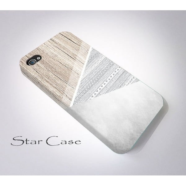Etui na iPhone 4/4S Wood Aztec Grey