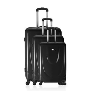 Komplet 3 walizek Valises Black