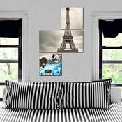Trzyczęściowy obraz Asymetric Eiffel, 60x90 cm