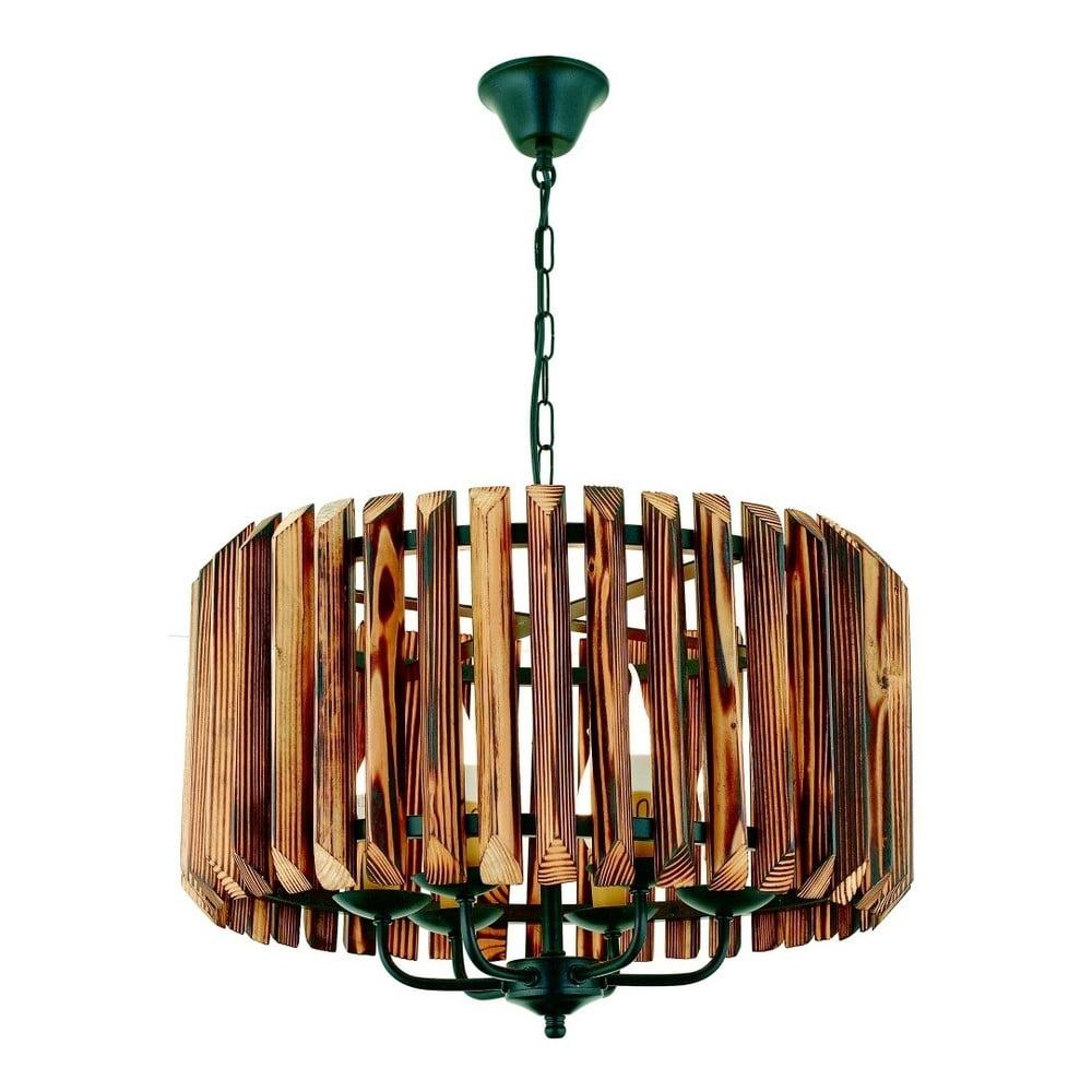 Lampa wisząca z drewna grabu Siesta