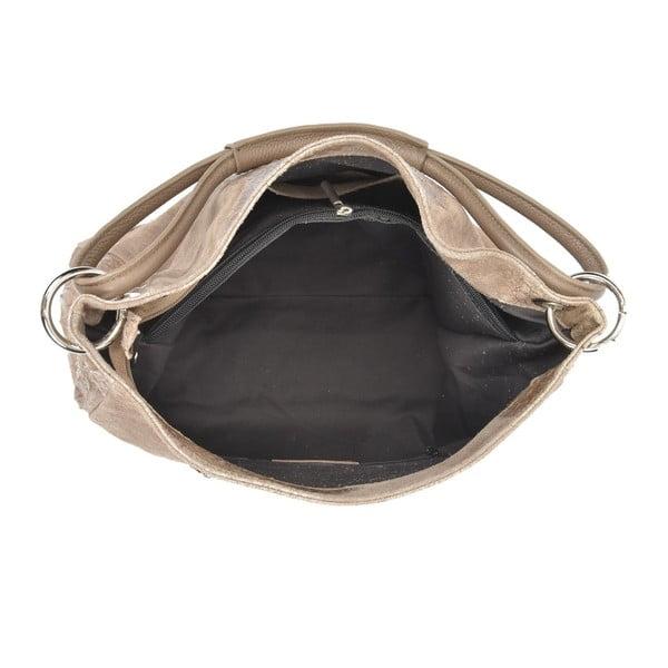 Beżowa skórzana torebka Luisa Vannini Marea