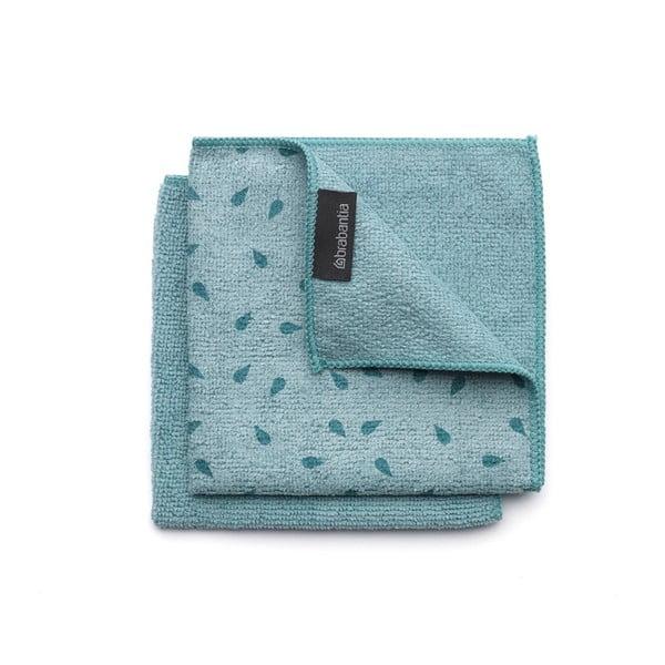 Zestaw 2 niebieskich ścierek z mikrowłókna Brabantia Clean
