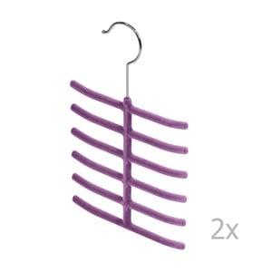 Zestaw 2 fioletowych wieszaków na krawaty Domopak Living