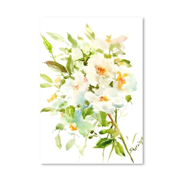 Plakat White Flowers (projekt Suren Nersisyan)