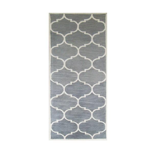 Srebrny dywan tuftowany ręcznie Bakero Florida, 78x244 cm