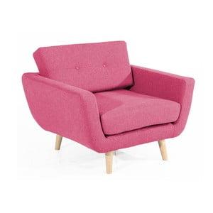 Różowy fotel Max Winzer Melvin