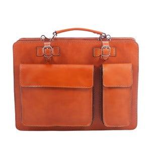 Brązowo-pomarańczowa torba skórzana Gaia
