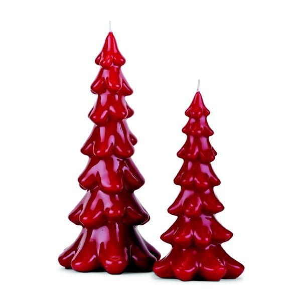 Zestaw 2 świeczek Red Tree