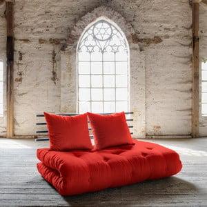 Sofa rozkładana Karup Shin Sano Black/Red