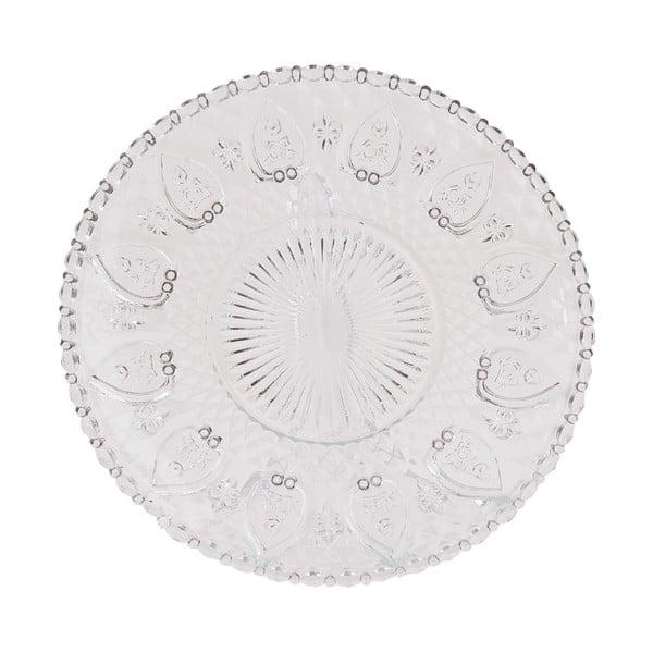 Szklany talerz Clayre Glass, 22 cm