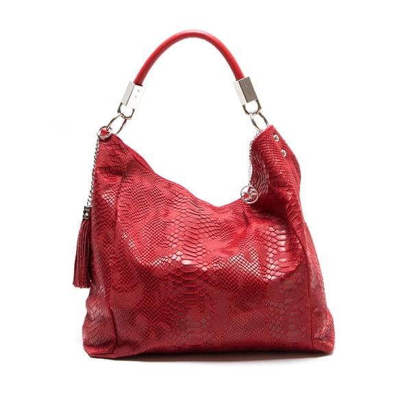 Skórzana torebka Foto, czerwona