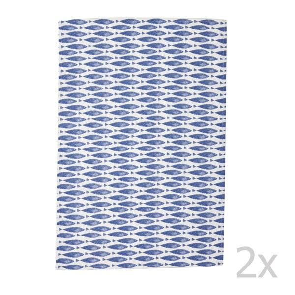 Komplet 2 ścierek Couture Fishie, 73x47,5 cm