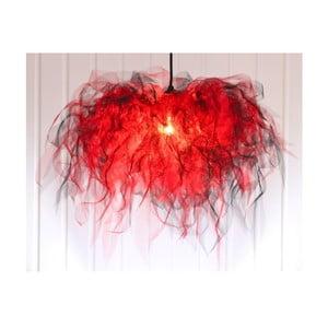 Żyrandol Ellen Munter L, czerwony z czarnym kablem