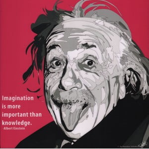 "Obraz ""Albert Einstein - Imagination"""