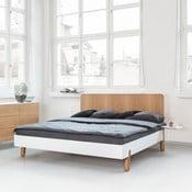 Łóżko Mamma z drewnianym zagłówkiem, 160x200 cm