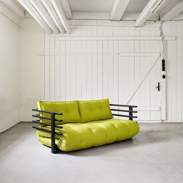Sofa rozkładana dwuosobowa Karup Funk Black/Pistacie