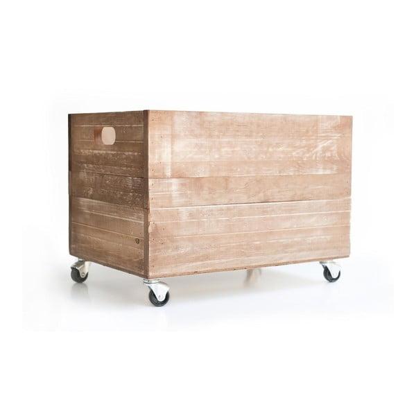 Rustykalna skrzynka drewniana Really Nice Things Wheels