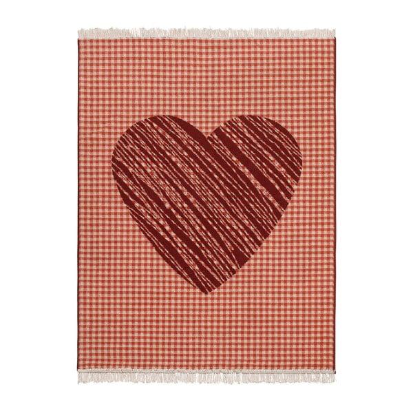 Dywan Fringe - czerwone serce, 140x200 cm