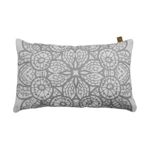 Poduszka Overseas Lace White/Smoke, 30x50 cm
