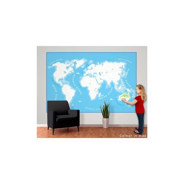 Tapeta   wielkoformatowa Kids Map, 158x232 cm
