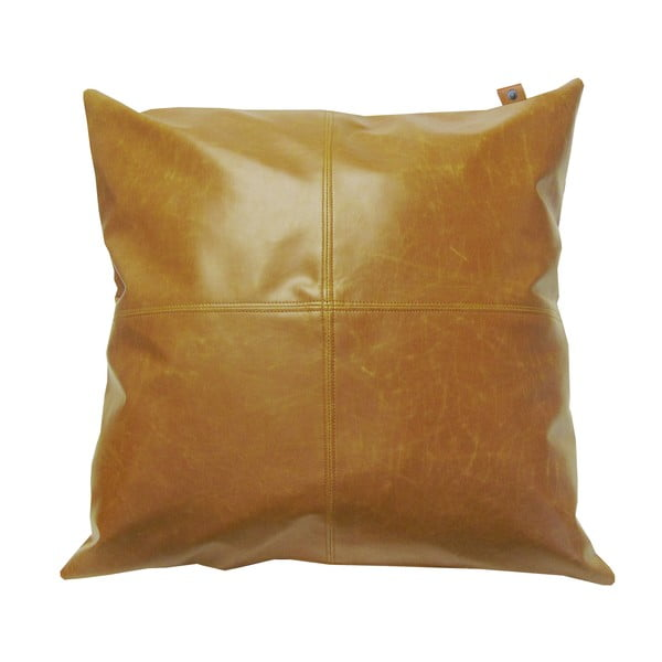 Poduszka Overseas Vintage Leather Cognac, 45x45 cm