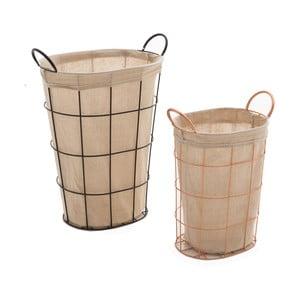 Zestaw 2 koszyków InArt Copper