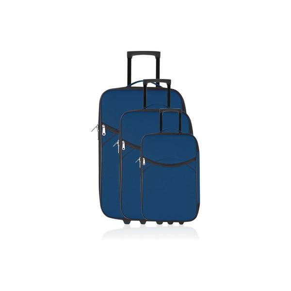 Komplet 3 walizek Valis Navy