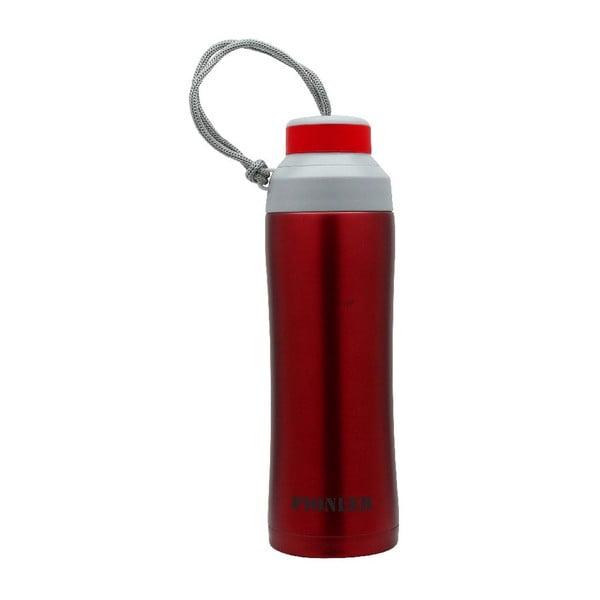 Czerwona butelka sportowa Pioneer, 450 ml