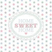 Białe serwetki Clayre & Eef Home Sweet Home, 20 szt.