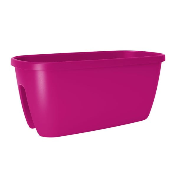 Donica balkonowa City Pink, 60x30x26 cm