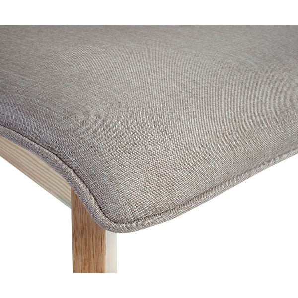 Komplet 2 brązowych krzeseł Mendler Kolding