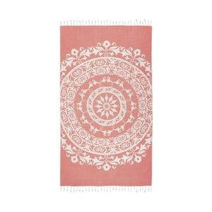 Pomarańczowy ręcznik hammam Kate Louise Madalena, 165x100 cm