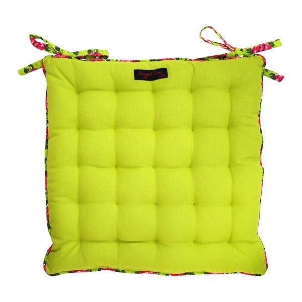 Zielona poduszka na krzesło Ragged Rose Paddy Plain