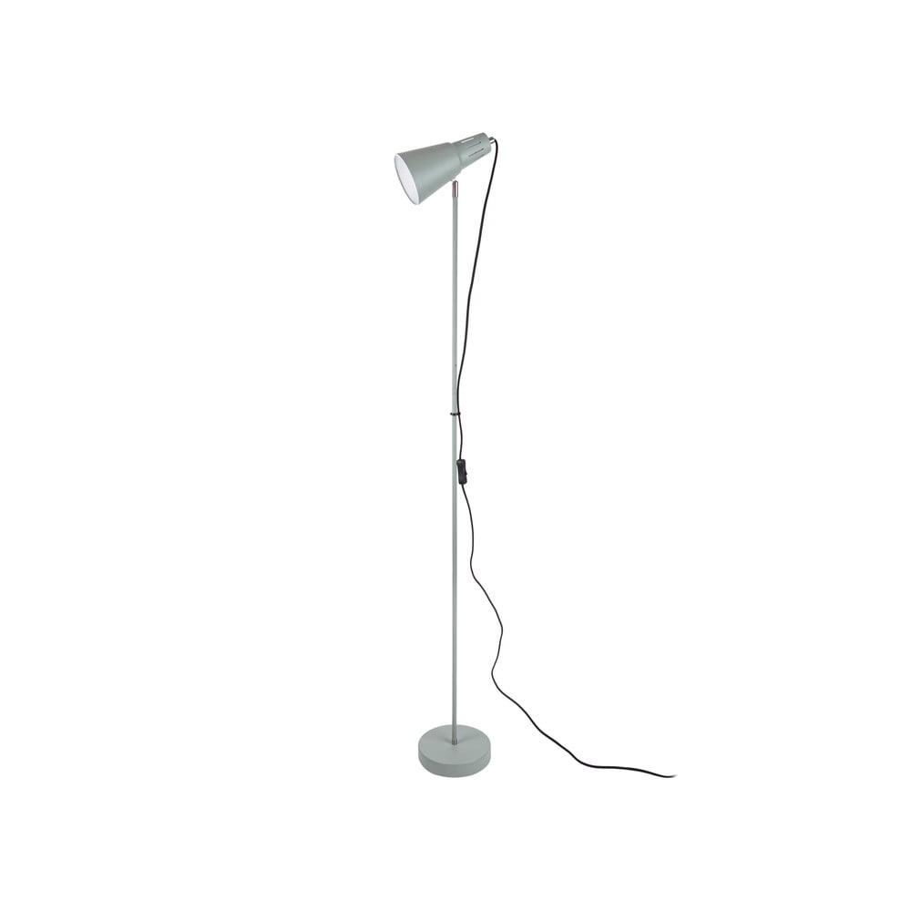 Szarozielona lampa stojąca Leitmotiv Mini Cone,wys.147,5cm