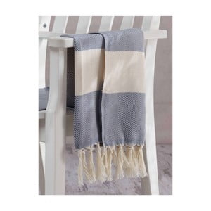 Szary ręcznik Hammam Baliksirti , 100x180cm