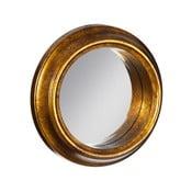 Lustro w złotej barwie Ixia Goldie, ⌀37cm