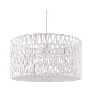 Biała lampa wisząca Leitmotiv Paper Rope Straight