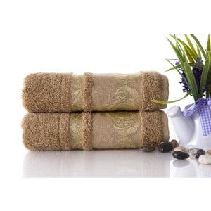 Zestaw 2 ręczników Antik Gold Mocha, 50x90 cm