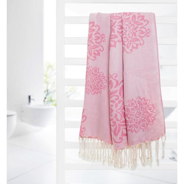Ręcznik hammam Fauna, różowy