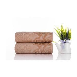 Zestaw 2 ręczników Kumsal Light Salmon, 50x90 cm
