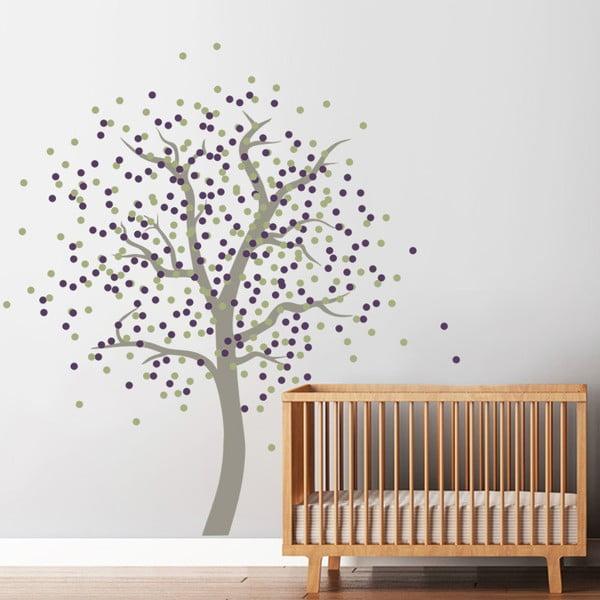 Naklejka Drzewo z kropek, 70x50 cm