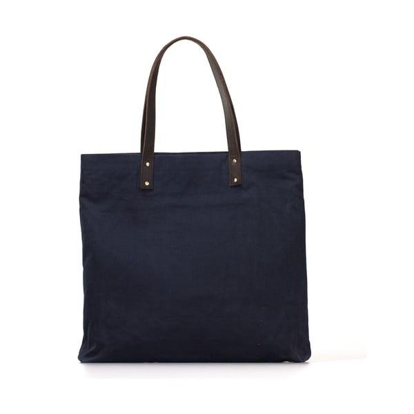 Niebiesko-czarna torba skórzana vintage O My Bag Lou's