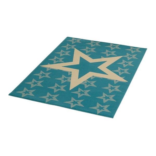 Niebieski dywan dziecięcy Hanse Home Star, 140x200cm