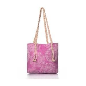Różowa torba Homedebleu Lace, 50x40 cm